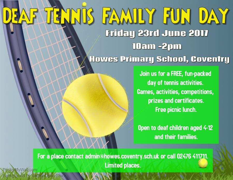 Deaf tennis poster